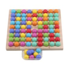 Kids Toys Educational Montessori Color Sorting Wooden Toys Clip Beads Math Toy Game|Math Toys