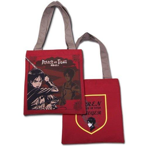 Tote Bag - Attack on Titan - New Eren Red Anime Licensed ge82273