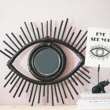 House of Vitamin Mysterious Rattan Eye Black Mirror