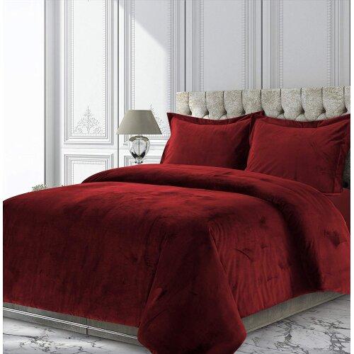 (King) Luxury Velvet Duvet Cover Set With Pillowcase
