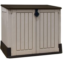 Plastic Garden Storage Box Unit Large Outdoor Container Patio Shed