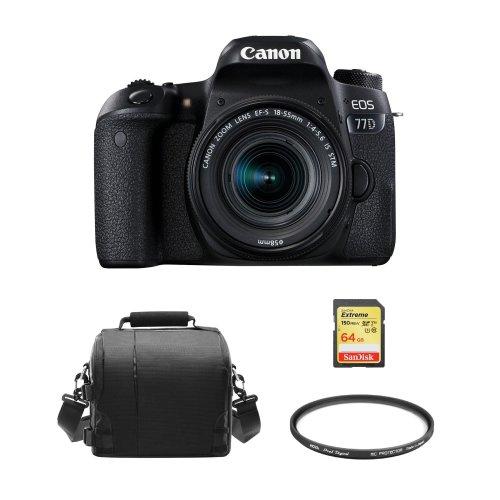 CANON 77D EF-S 18-55mm F4-5.6 IS STM+64G card+Bag+HOYA 58mm Protector