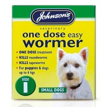 Johnsons 1 Dose Wormer Tablets For Small Dogs (6 Packs)