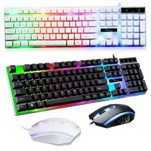 LED Rainbow Gaming Keyboard & Mouse Set