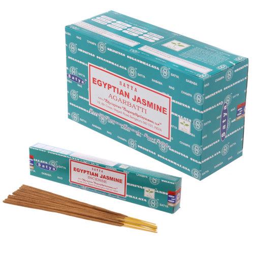 Satya Nag Champa Incense Sticks - Egyptian Jasmine - Set of 12