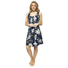 Cyberjammies Alexa 4501 Women's Navy Blue Floral Print Nightdress
