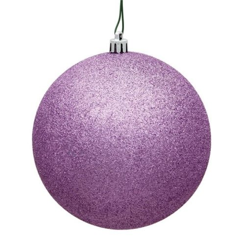 Vickerman N590709DG Orchid Pink Glitter Ball Drilled Ornament - 2.75 in.