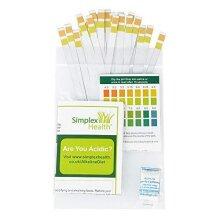 SimplexHealth pH Dual Test Strips to Test Urine & Saliva (25 STRIPS)