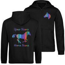 Childrens Zip-Up Canter Horse Hoodie