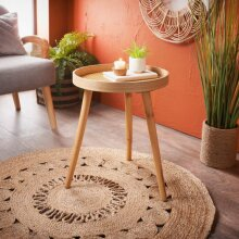 Cane Urban Paradise Side Table Add Some Style and Unique Storage To Your living room - Natural