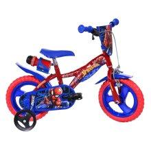 Dino Spiderman Kids Bike with Stabilisers