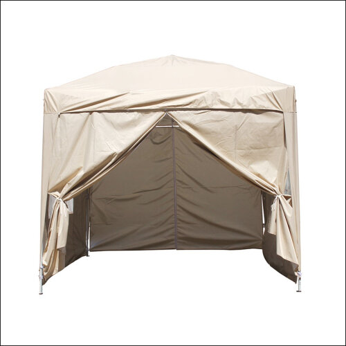 3 x 3mGarden Pop Up Gazebo Marquee Patio Canopy Wedding Party Tent- Beige