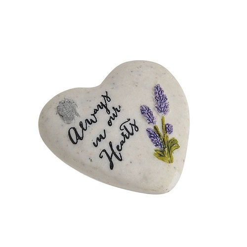 Thoughts Of You Small Memorial Heart Shaped Pebble - Always In Our Hearts