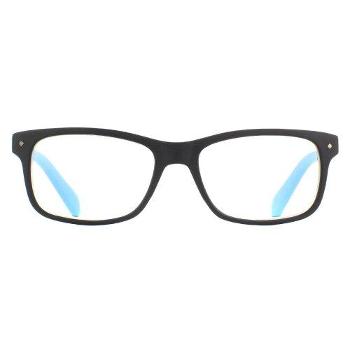Polaroid Glasses Readers 0023/R 807 Black +2.0 Blue Light Block