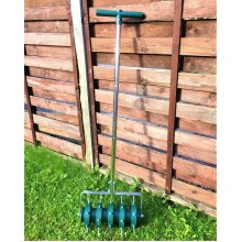 ROLLING LAWN AERATOR HEAVY DUTY FOR LAWNS GRASS AERATOR Remi Tools