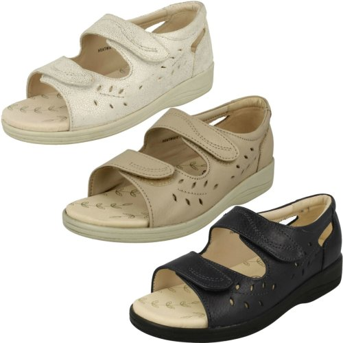 Ladies Padders Peep Toe Sandals Heatwave - 2E Fit