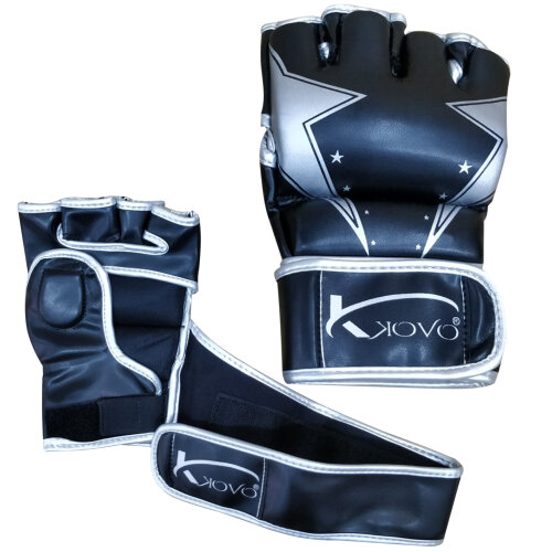 Kovo Rex Leather MMA Boxing Gloves Training Black