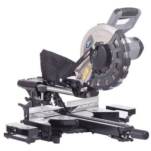 SwitZer Mitre Saw 10 inch Compound Sliding 2000W Single Bevel Cut Laser Blade