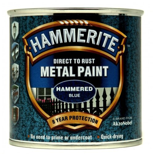 HAMMERITE Direct To Rust Metal Paint - Hammered Blue - 250ml [5092936]