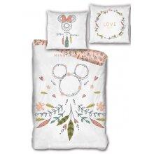duvet cover Minnie Mouse 140 x 200 cm cotton white