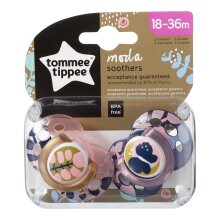 Tommee Tippee Moda Silicone Soothers, Orthodontic Design, 18-36m, 2 Pack