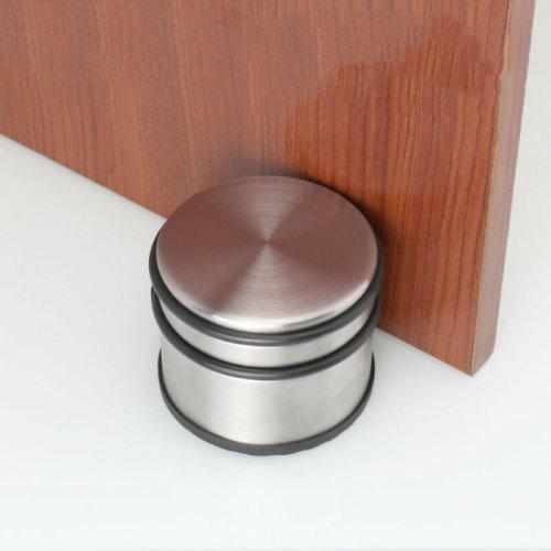 Round Floor Metal Stainless Steel Door Stop Stopper Protector Rubber