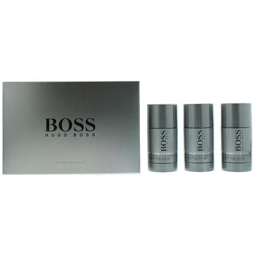 Hugo Boss Grey 3 X 75ml Deodorant Sticks Male Gift Set