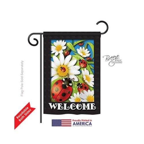 Breeze Decor 54068 Ladybug Heaven 2-Sided Impression Garden Flag - 13 x 18.5 in.