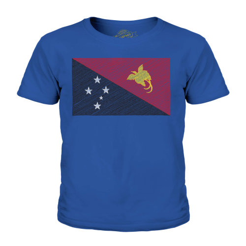 Candymix - Papua New Guinea Scribble Flag - Unisex Kid's T-Shirt