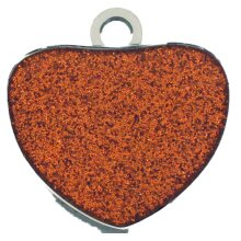 PERSONALISED GLITTER HEART DOG ID TAGS