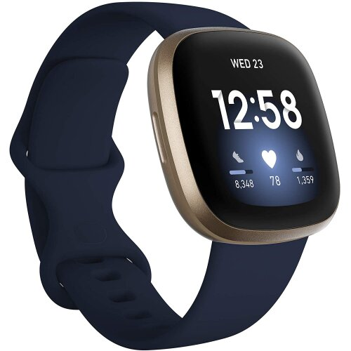 Fitbit Versa 3 Health & Fitness Smartwatch with GPS, 24/7 Heart Rate, Voice Assistant & up to 6+ Days Battery