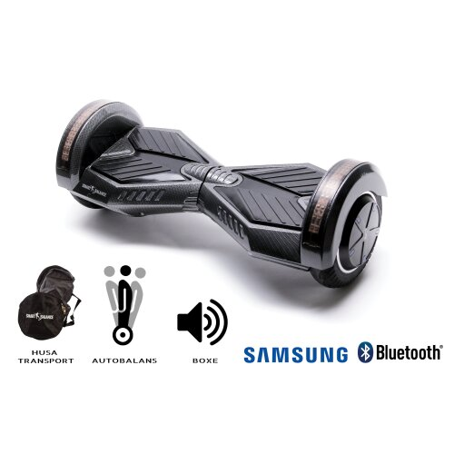Hoverboard Smart Balance™ Premium Brand, Transformers Carbon, 8 inch, Bluetooth, Samsung Cell battery, Built-in speakers, AutoBalans, 700W, LED