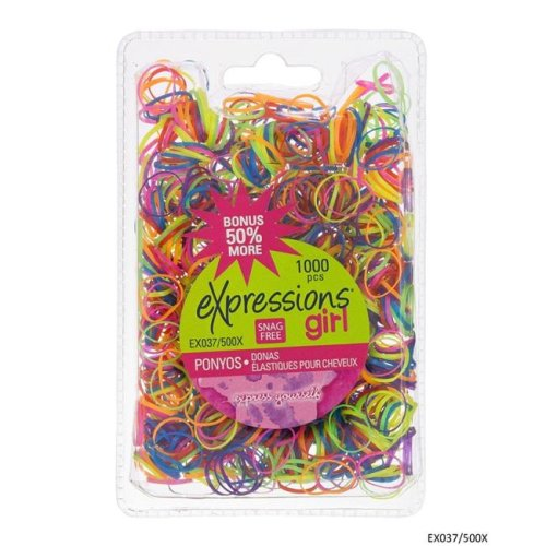 Expressions 2334249 Bright Snag Free Rubber Band - 1000 Piece - Case of 48