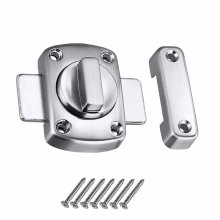 Bolt Latch LMYTech Rotating Door Latch/Gate Latch/Night Latch/Door Latch/Latch Lock/Bathroom Door Latch/Stainless Steel Brushed Finish/Applicable...
