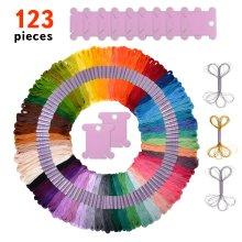 Premium 123 Piece Friendship Bracelet String and Bobbins Kit