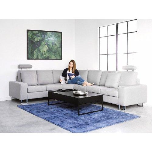 Beliani STOCKHOLM Upholstered Corner Sofa | Grey Sectional Sofa