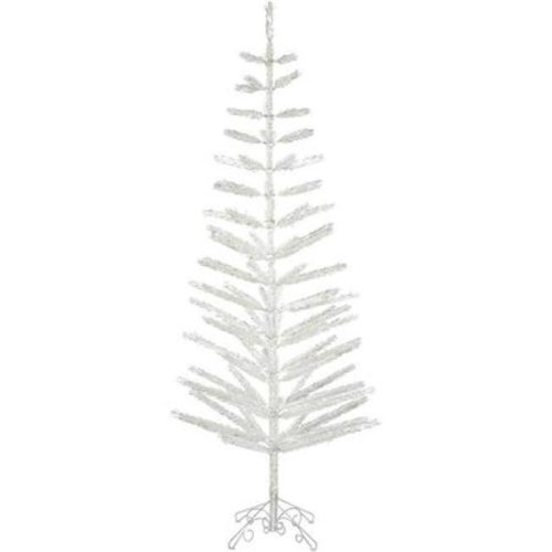 Vickerman S151091 9 ft. x 34 in. Champagne Feather Tree with 488 Warm White Dura LED Light