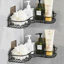 Punch-Free Corner Shower Shelf Rack Kitchen Bathroom Storage Rack