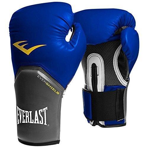 Everlast Unisex's Men's Pro Style Elite Training Boxing Gloves-Blue, 16 oz