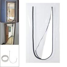 Heavy Duty Reusable Zipper Door Dust Barrier Protection Kit Plastic