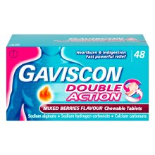 Gaviscon Double Action Mixed Berry - 48 Tablets