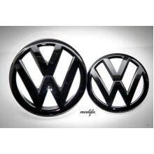 MODIFIX   VW GOLF MK6 BLACK GLOSS FRONT & REAR BADGE EMBLEM GOLF 6 R GTI TDI GTD