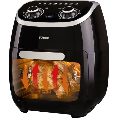 Tower Manual with Rotisserie T17038 Air Fryer - Black