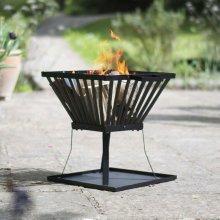 RedFire Fire Basket Morden Black Steel 39x39 cm 85015