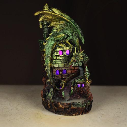 Fantasy LED Backflow Incense Burner - Dragon Castle