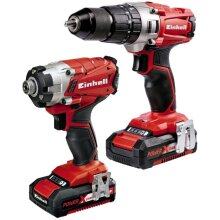 Einhell 4257214 Power-X-Change Combi & Drill Driver Twin Pack 18 Volt 2 x 2.0Ah Li-Ion