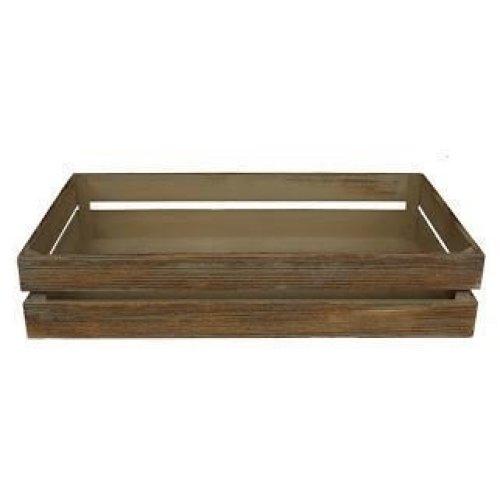 Medium Oak Effect Wooden Crate | Wooden Storage Tray