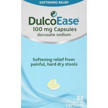 DulcoEase Stool Softener, 30 Soft Gel Capsules