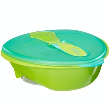 Vital Baby Power Suction Feeding Bowl and Spoon - Prevents Spills and Mess - Pop