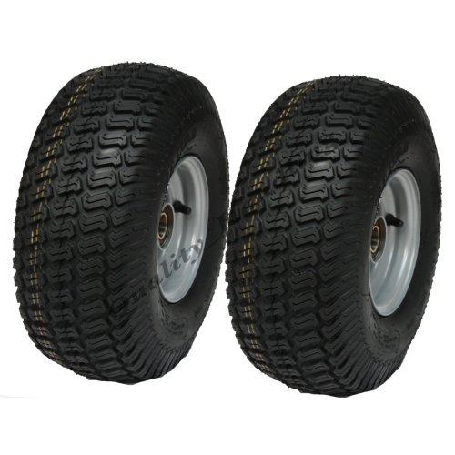 15x6.00-6 grass tyre on rim-lawnmower- cart-buggy, 20mm BB - set of 2